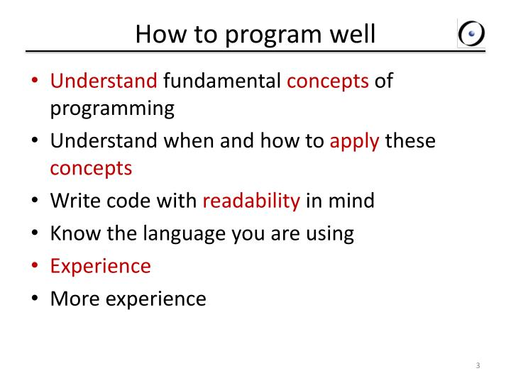 How to program well