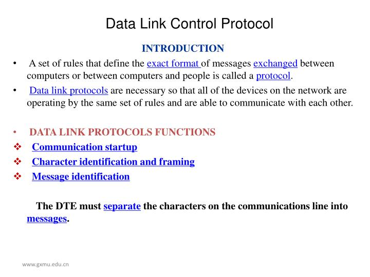 Data link control protocol