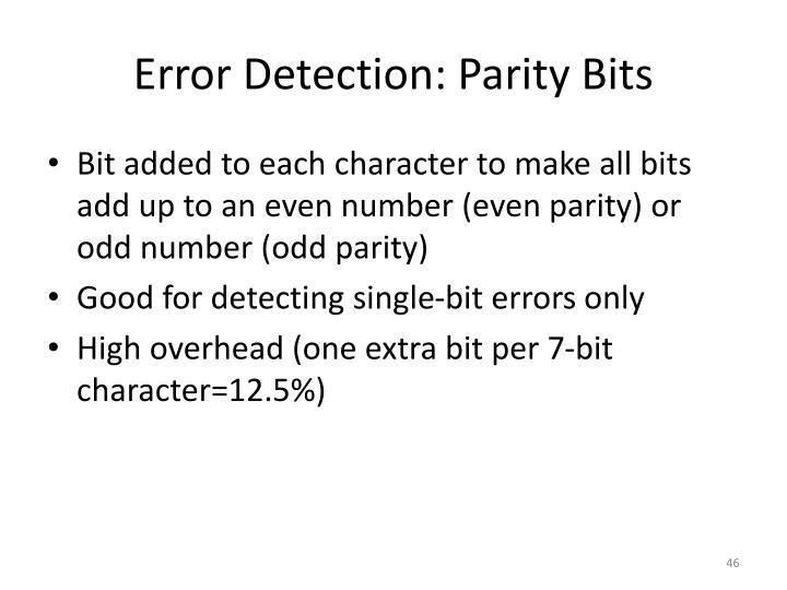 Error Detection: Parity Bits