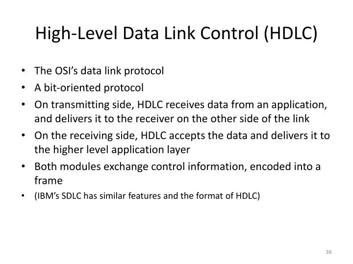 High-Level Data Link Control (HDLC)