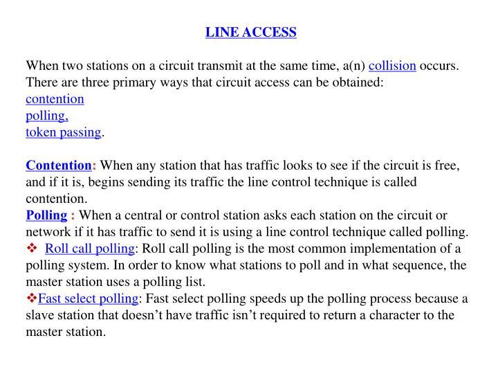LINE ACCESS