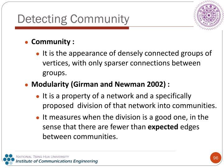 Detecting Community