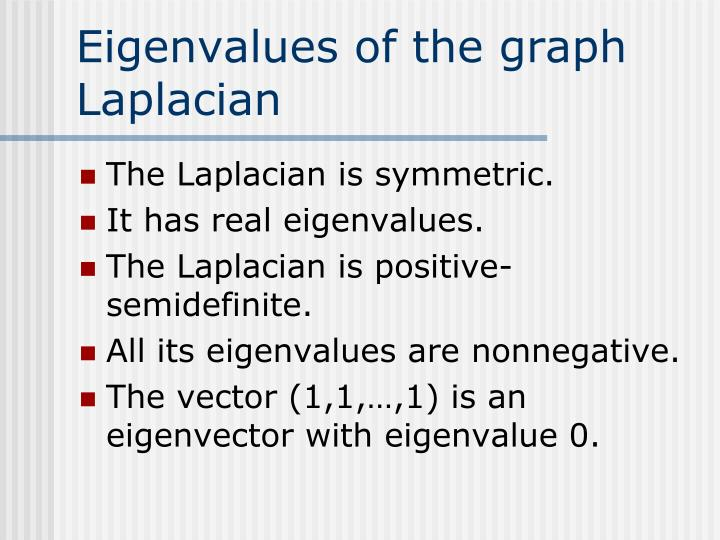 Eigenvalues of the graph Laplacian