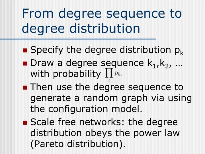 From degree sequence to degree distribution