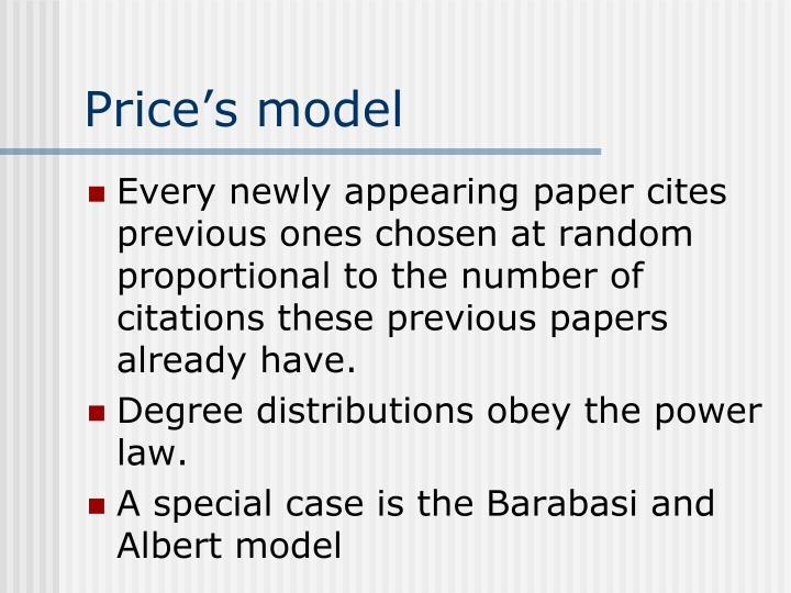 Price's model