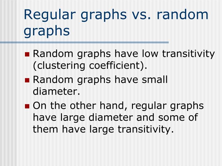 Regular graphs vs. random graphs