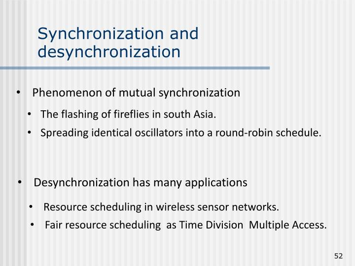 Synchronization and