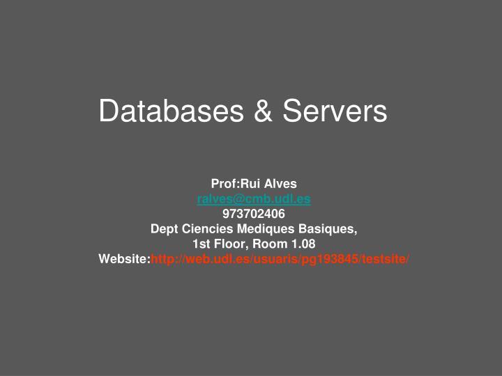 Databases & Servers