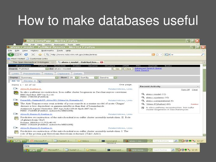 How to make databases useful