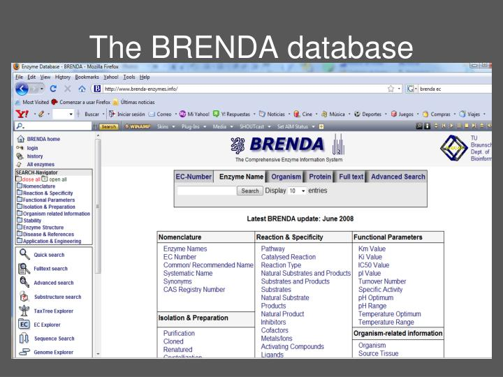 The BRENDA database