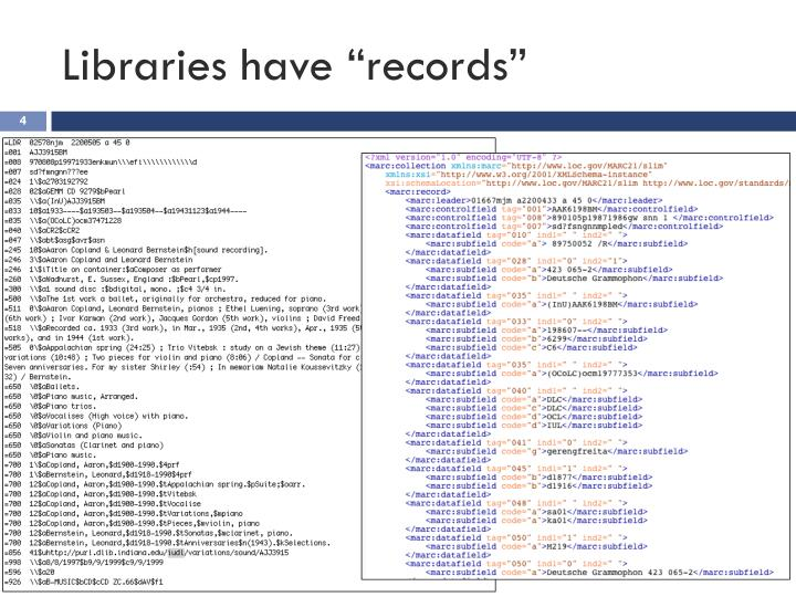 "Libraries have ""records"""