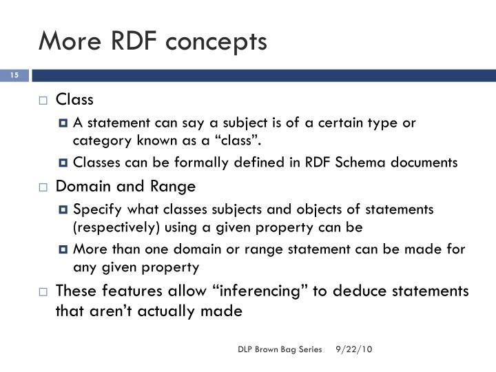 More RDF concepts