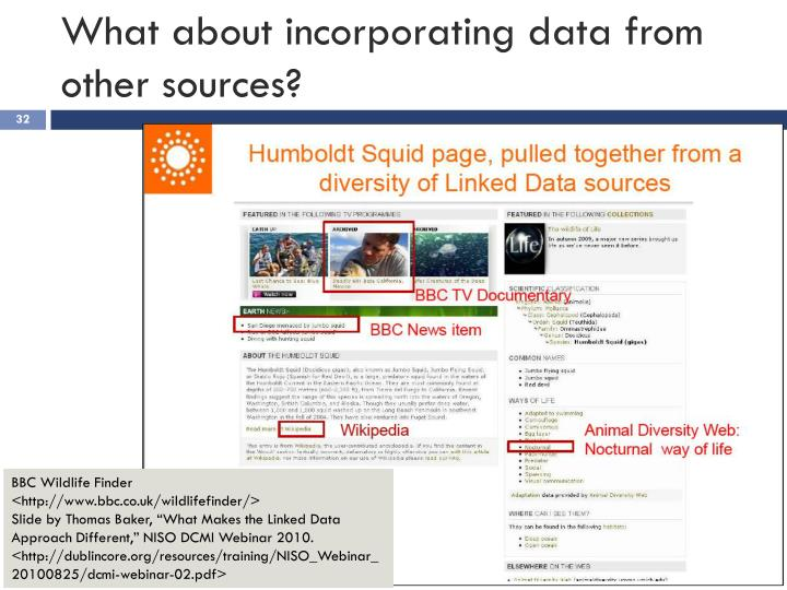 What about incorporating data from other sources?