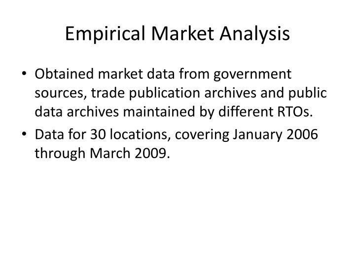 Empirical Market Analysis
