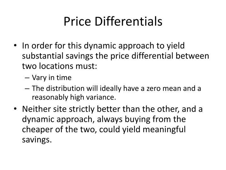 Price Differentials