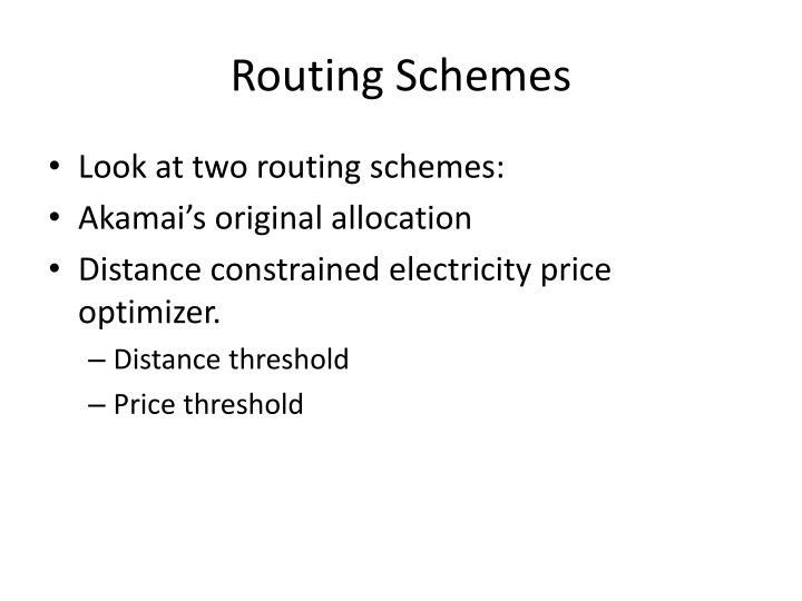 Routing Schemes