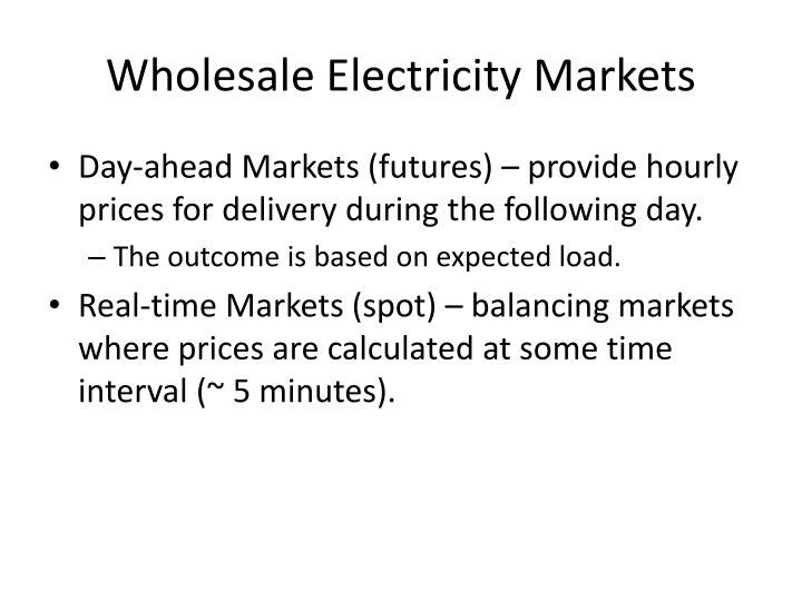 Wholesale Electricity