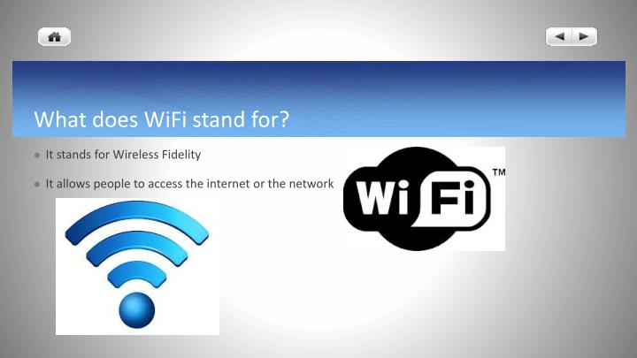 PPT - Network and WiFi PowerPoint Presentation