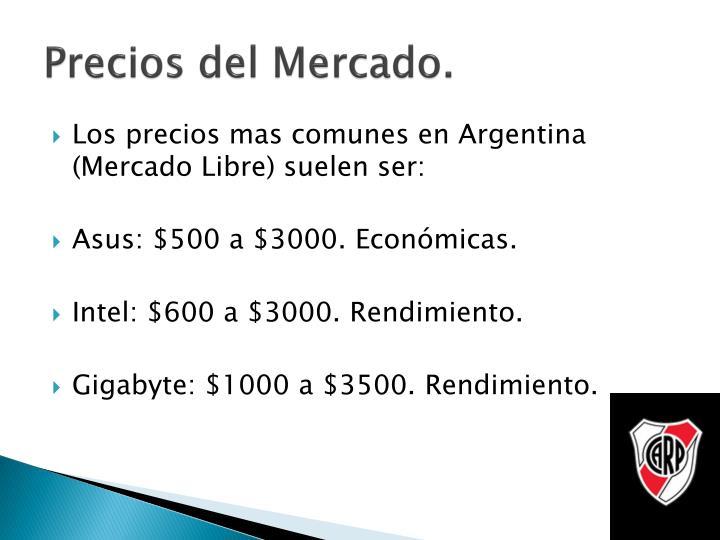Precios del Mercado.