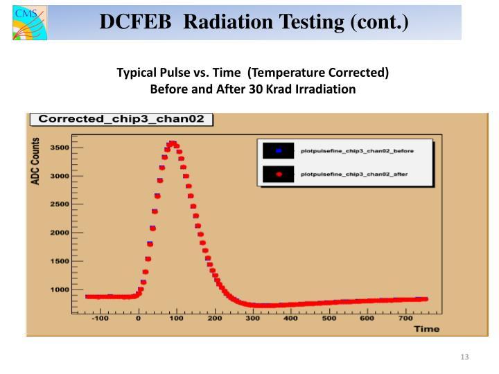 DCFEB  Radiation Testing (cont.)