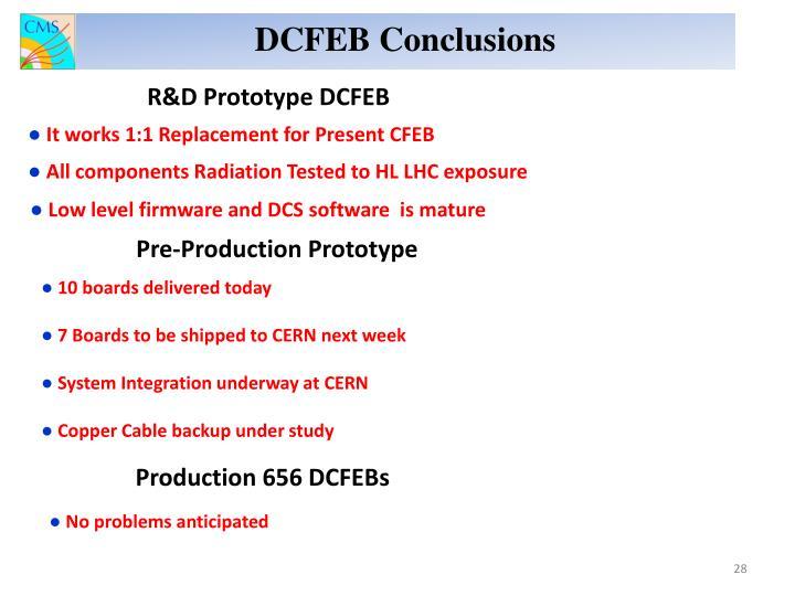DCFEB Conclusions