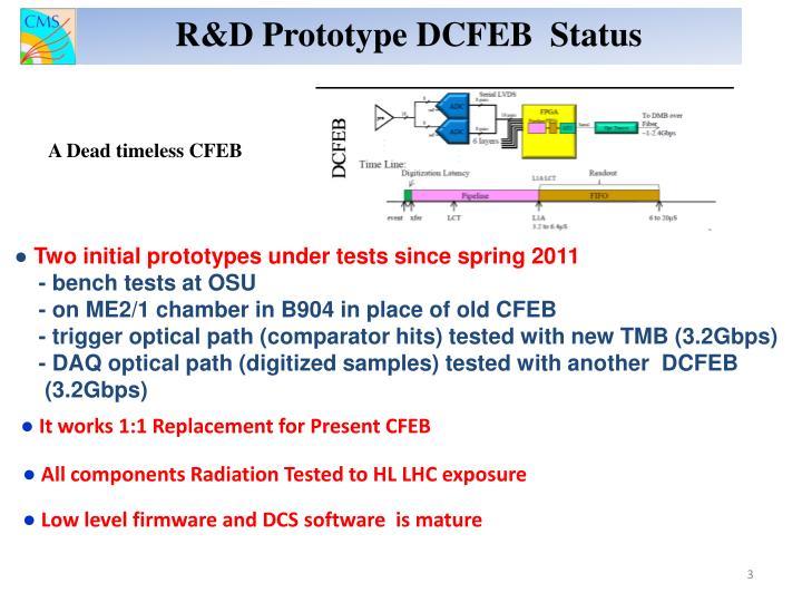 R&D Prototype DCFEB  Status