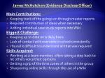 james mchutchon evidence disclose officer