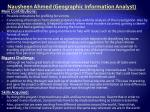 nausheen ahmed geographic information analyst