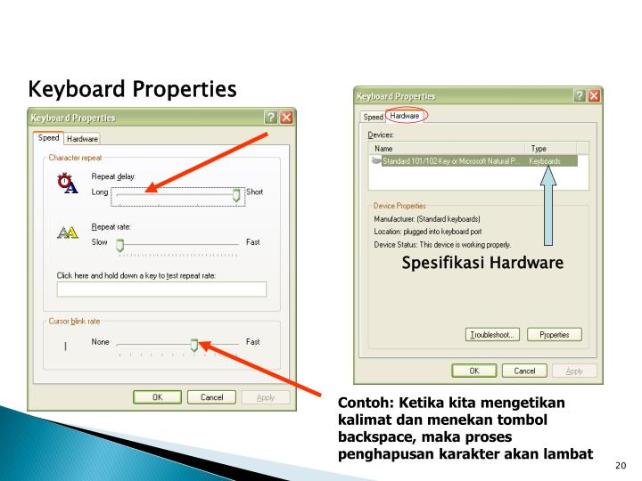 Keyboard Properties