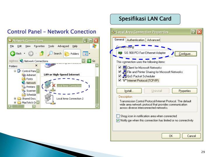Spesifikasi LAN Card