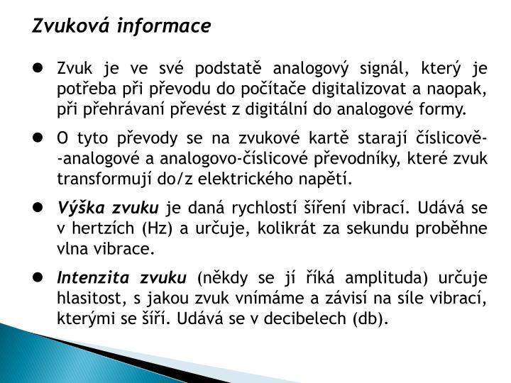 Zvuková informace