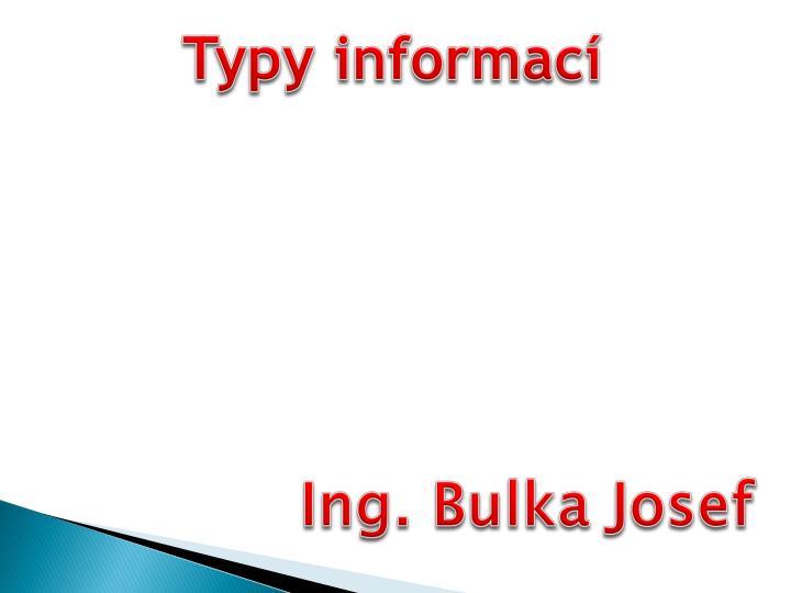 Typy informací
