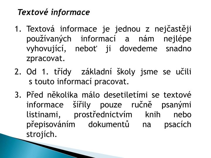 Textové informace