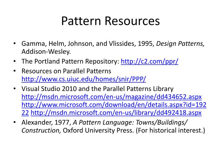Pattern Resources