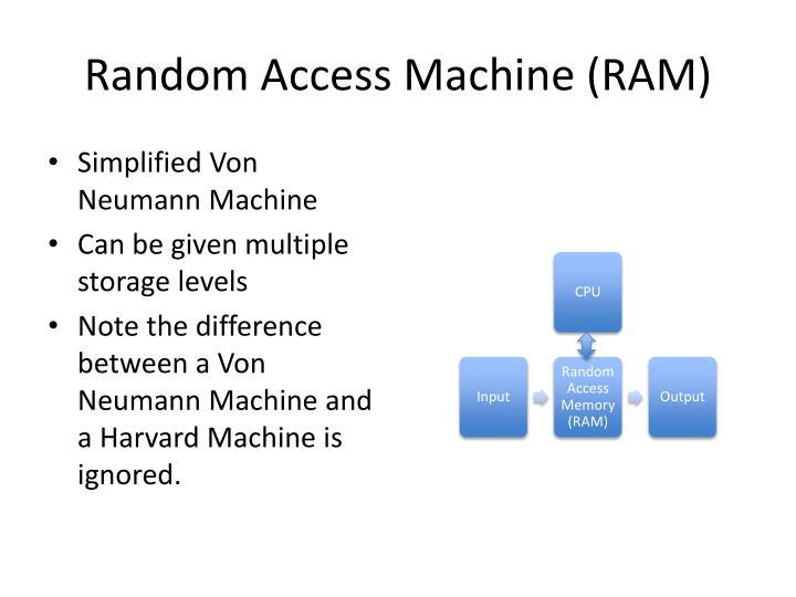Random Access Machine (RAM)