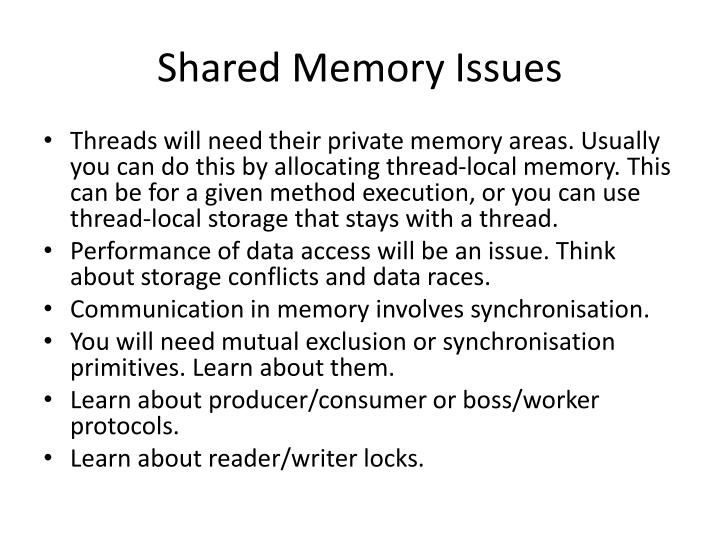 Shared Memory Issues