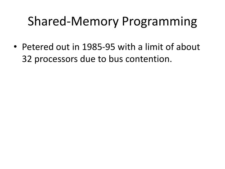 Shared-Memory Programming