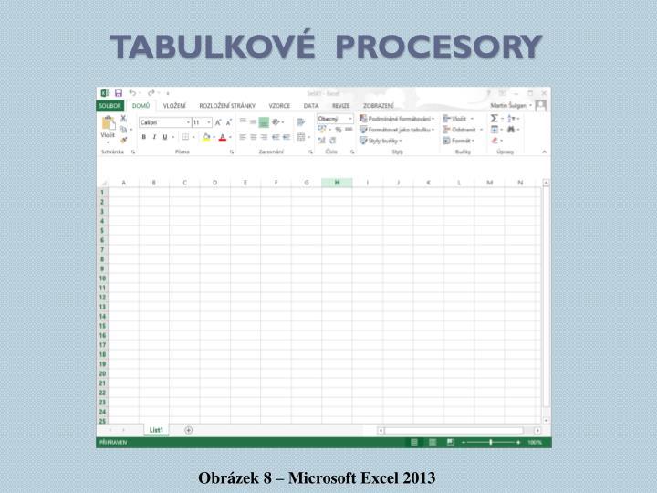 Tabulkové  procesory