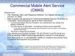 commercial mobile alert service cmas
