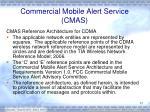 commercial mobile alert service cmas2