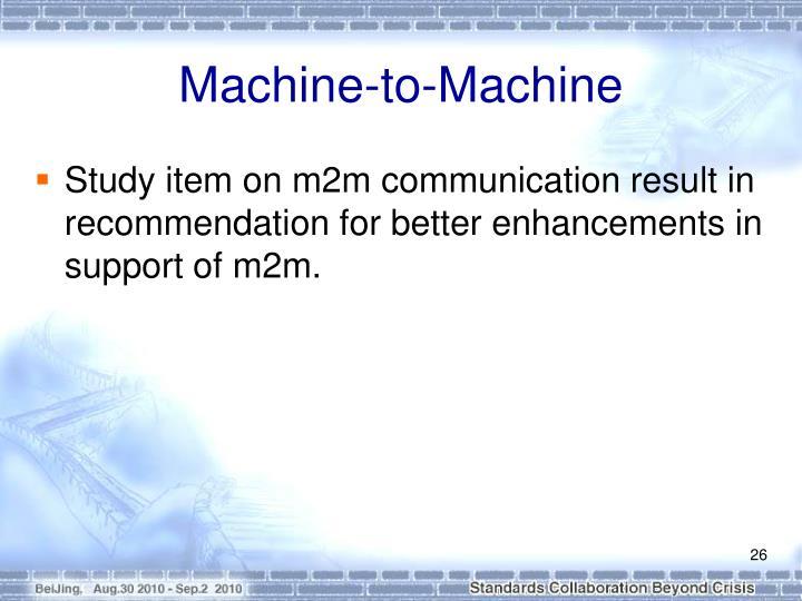 Machine-to-Machine