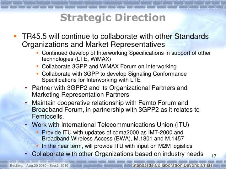 Strategic Direction