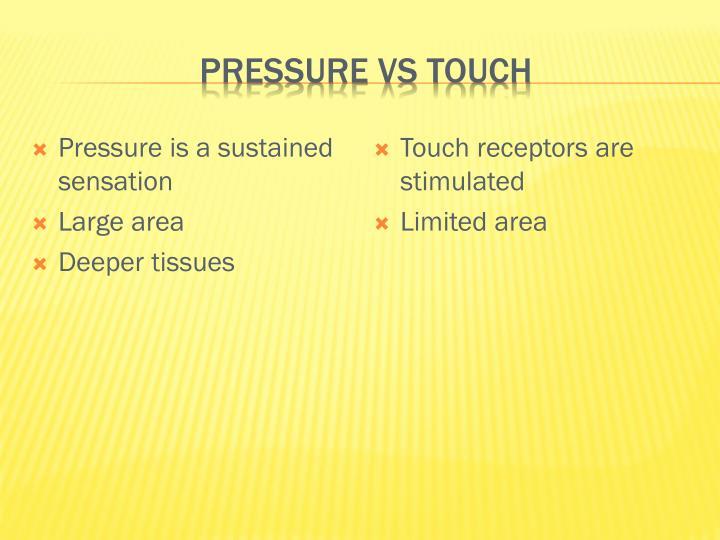 Pressure vs touch