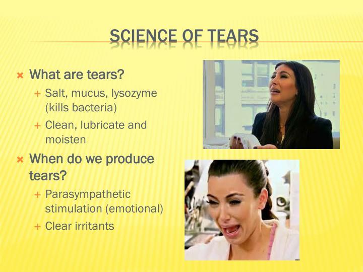 Science of tears