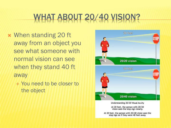 What about 20/40 vision?