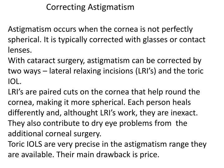 Correcting Astigmatism