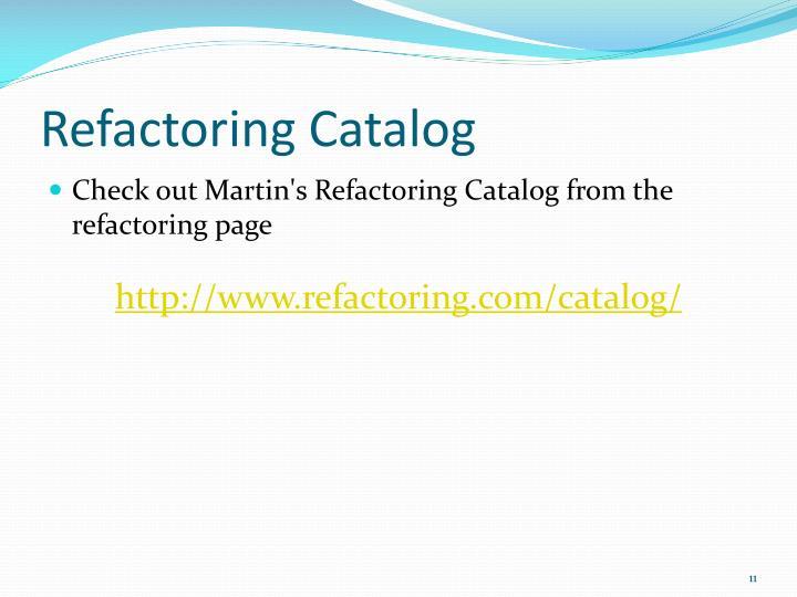 Refactoring Catalog