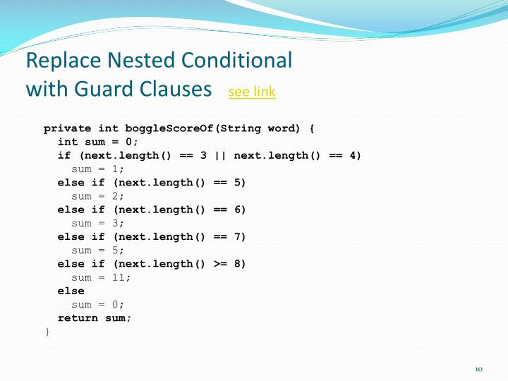 Replace Nested Conditional