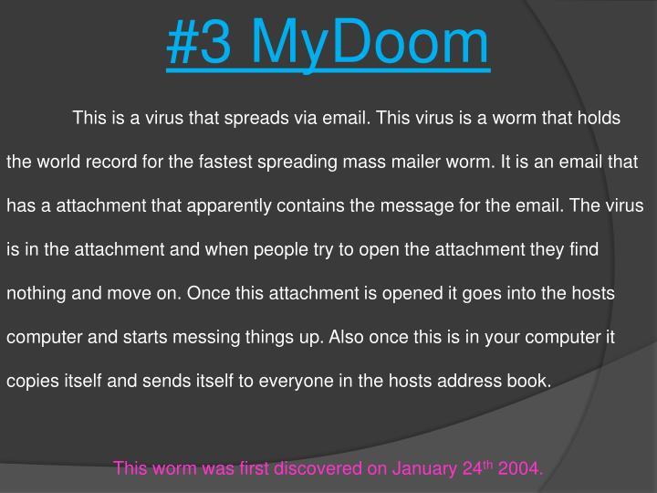 #3 MyDoom