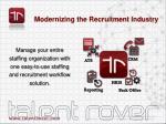 modernizing the recruitment industry